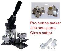 """50mm 2"""" Interchangeable Button Maker Machine Supplies Material KIT"""