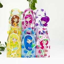 6x Strawberry Shortcake Lolly Loot Bag Box. Party Supplies Bunting Cake Banner