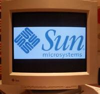 Sun Microsystems Sony Trinitron 20 inch CRT Monitor GDM20E20 and PC-VGA Adapter