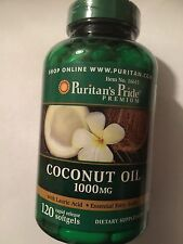 COCONUT OIL CAPSULES GIANT 120 x 1000MG FOR WEIGHT LOSS SLIMMING ENERGY