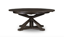 "63"" Diameter Ulderico Dining Table Reclaimed Wood Rustic Black Olive Weathered"