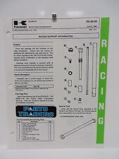 NOS Kawasaki Dealer Race Team Tuning Support Info Sheet KDX200 1989