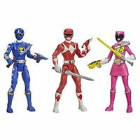 Power Rangers Beast Morphers 3-Pack Action Figure Toys Dino Mighty Blue red pin