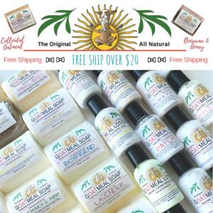 Goatmeal Goat Milk Oatmeal & Honey Soap- Handcrafted- Organic- Natural- Homemade