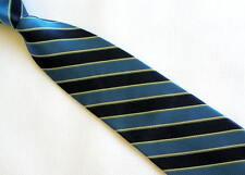 Mens Necktie Silk Tie Navy White Blue Strip CHAPS