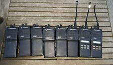 Lot Of 8 Motorola Mts2000 Flashport Handie Talkie Radio And 11 Extra Batteries