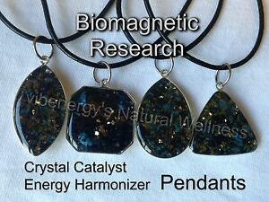 "Biomagnetic Research Crystal Catalyst Energy Harmonizer ""I AM"" Pendant -4 styles"