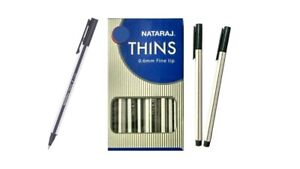 20x Nataraj THINS Ball pen BLUE | use & throw pen | Smooth writing