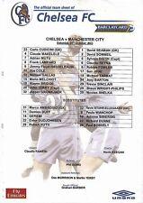 Teamsheet - Chelsea v Manchester City 2003/4