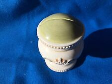 Rare 1800's Mint Antique Ironstone Embossed Slot Top Salt Paper Shaker Olive