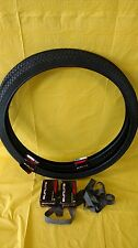 Bicycle 2 Tires 26 x 1 .75  Black Wall Knobby Raised Center Beach Cruiser Combo