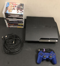 Sony Playstation 3 PS3 Slim CECH-2001A 120GB Console 1 Controller 12 Game Bundle