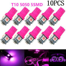 10Pcs T10 2825 168 194 Pink/Purple 5SMD LED Interior Dome Map Trunk Light bulbs