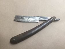 Vintage straight razor B J EYRE & CO CHALLENGE SHEFFIELD notched end Heavy Blade