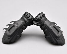 """Hottoys 1/6th Batman Arkang City Bracers + Hand model For 12"""" Action Figure"""