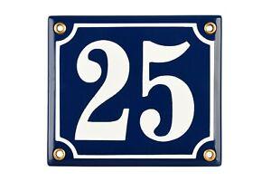House number plaque 12x14 cm personalised enamel sign   door plate address