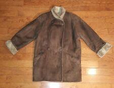 SEARLE BLATT Women's Brown Sheepskin Shearling Jacket Coat Size M Medium