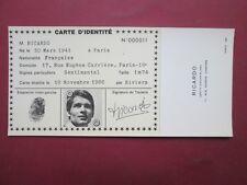 RARE CARTE  IDENTITE PUBLICITAIRE N° 11 RICARDO 1966 ETAT NEUF