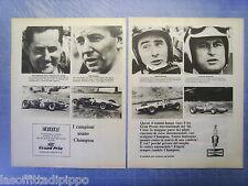 QUATTROR967-PUBBLICITA'/ADVERTISING-1967- CHAMPION:BRABHAM/SURTEES/STEWA-2 fogli