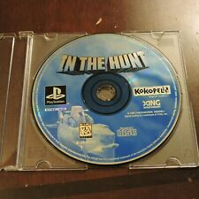 In The Hunt Sony Playstation 1 PS1 Game Disc Only Shooter Shoot Em Up Shmup
