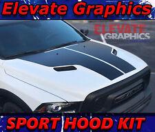 Fits Dodge Ram 1500 Sport Hood Stripes Graphics Racing Decals Vinyl 3m 2009 2018