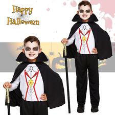 Chicos Vampiro Drácula Niño Disfraz De Halloween Completo De Disfraces Niños Cape edades 7-9