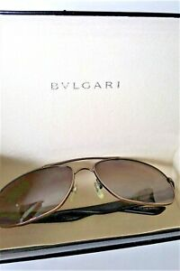 BULGARI Polarized HAVANA  Men's Sunglasses -Tortoise Shell w/  Bulagari Case