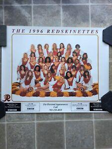 Vintage 1996 Washington Redskins Cheerleader Redskinettes Poster