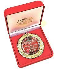 Medaille in der Samtbox Geschenk Souvenir auf russisch Спортсменке Комсомолке
