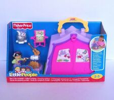 Fisher Price Little People Play 'n Go Campeggio Nuovo Gratis P&P