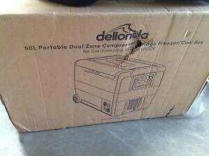 Dellonda 50L Portable Fridge Freezer/Cool Box for Car/Caravan/Camping