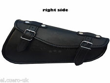 SOLO RIGHT SIDED BLACK FAUX LEATHER HARLEY SPORTSTER CHOPPER SWINGARM TOOL BAG