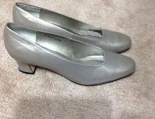 Ros Hommerson Grey Leather Classic Pumps Shoes Sz 9.5 Medium VGC