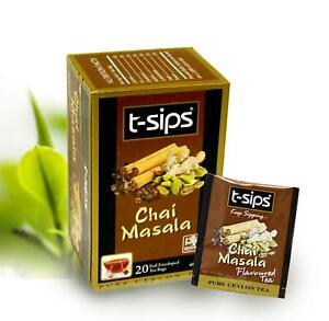 t-sips Chai Masala Black Tea -2g X 20 tea bags (enveloped)