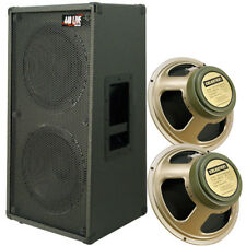 "2x12 Vertical Guitar Spkr Cab Charcoal Bk tolex W Celestion 12""greenback Speakr"
