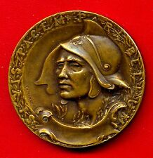 MILITAIRE OF FRANCE 1931 SOCIETY UNION / bronze medal / by MAREY / 50 mm / N133