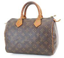 Authentic LOUIS VUITTON Speedy 25 Monogram Boston Handbag Purse #36676