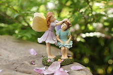 Miniature Fairy Garden Sisters 4 Inch Tall, Hand Painted Resin Figurines Decor