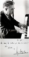 Composer LUIGI DALLAPICCOLA Hand SIGNED Letter AUTOGRAPH + PHOTO + MAT Piano ALS