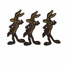 Looney Tunes Series Wile E Coyote Standing Figure Embroidered Patch Set of 3