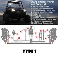 2-Adaptor Car Work Light FOG Wiring Loom Harness Kit Fuse Relay Switch DC12V 40A