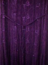 NEU Dash Superb lila bestickt Boho Hippie Festival Kleid Größe 14 # 961
