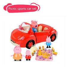 TY PEPPA PIG, GEORGE & FAMILY Red Car Set Action Figure BRAND NEW GIFT GENUINE