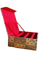 BAN3003 Gold Indian Ethnic 3 Bar Bangle Storage Box Indian Bangle, Jewellery Box