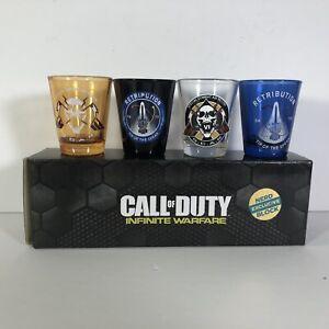 Call of Duty Infinite Warfare Shot Glasses Exclusive Set of 4 Glasses  2 FL Oz.