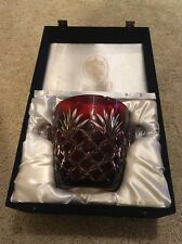 Huge Rare Faberge Crystal Glass Dark Ruby Red Bowl Read!!! Chipped