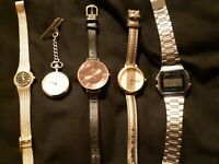 Job lot of watches,Ingersoll,mount royale accurist,anaii and casio