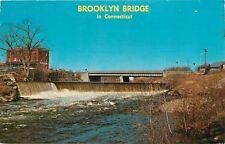 Danielson Connecticut~Quinebaug River~Brooklyn Bridge~Dam & Falls~1960s