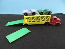VINTAGE TootsieToy Turnpike Transport with TWO cars  EXCELLENT Shape w/ ramps