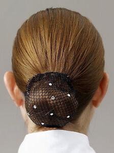 Busse Crystal Hair Bun Net